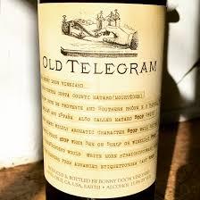 Bonny Doon Old Telegram